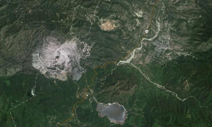 Minera Peña Colorada. Imagen de Google Maps