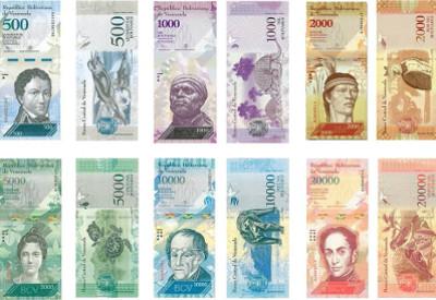Billetes venezuela fauna