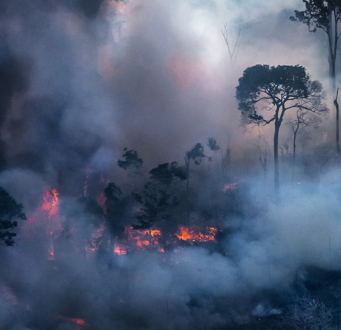 Amazonas en llamas. Foto: Araquém Alcântara