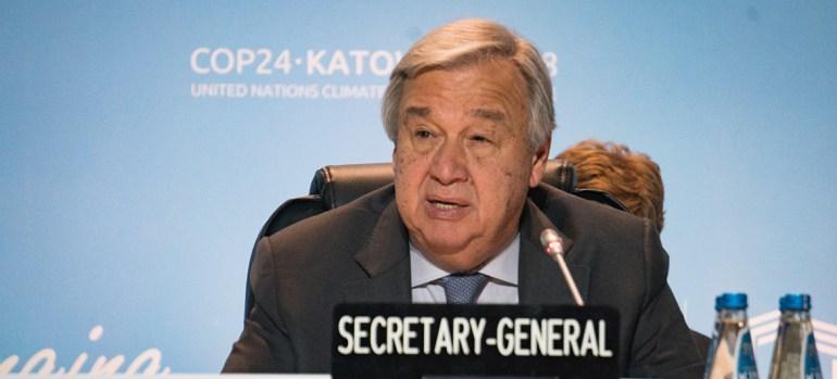 António Guterres en la COP24
