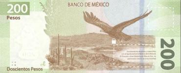 Nuevo billete de 200 pesos águila real México