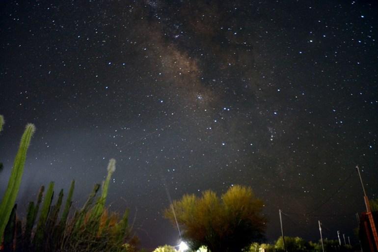 La Vía Láctea en una zona del desierto de Hermosillo. Foto: Aldo Alcaraz