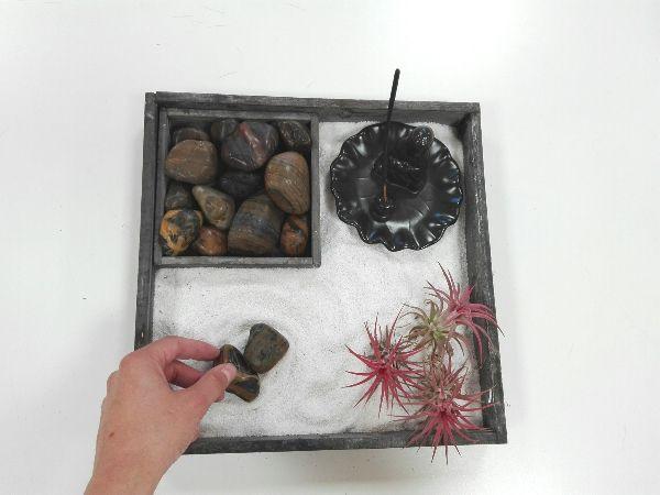 hacer un jardin zen en miniatura