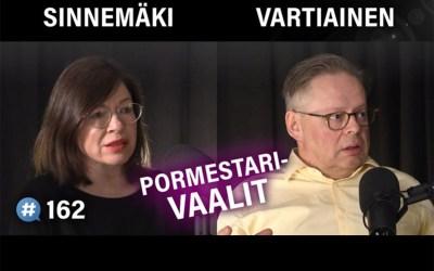 Kilpailevat pormestariehdokkaat Anni Sinnemäki ja Juhana Vartiainen samoilla linjoilla Helsingin kehittämisestä