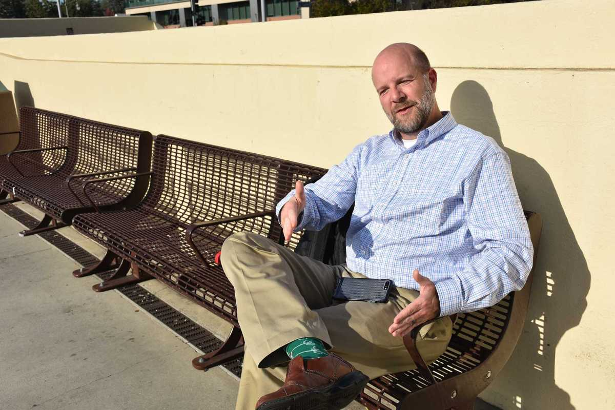 """Sheehan, who works downtown, praises CalTrain for being quick and convenient. """"Not having to sit in rush hour traffic is the biggest thing [reason why I take CalTrain],"""" Sheehan says. """"I also can't do any extra work in the car."""""""
