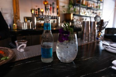 "Date Under the Stars - ""The gin and tonic was inspired by local San Francisco restaurants where we would go,"" Viari says. ""Everyone was trying to race to see how they could make their gin and tonic stand out."""
