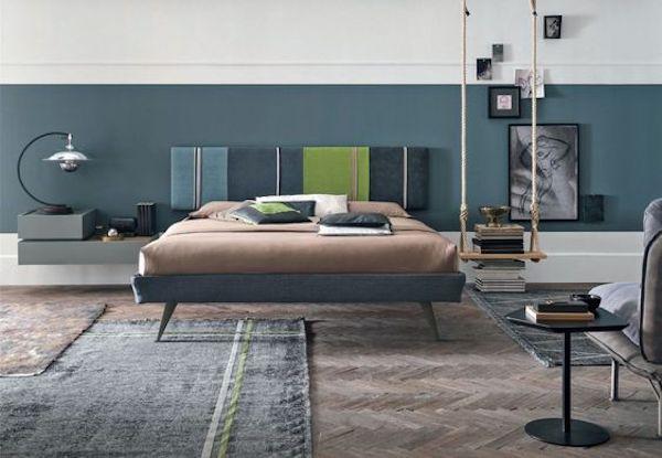 Non a caso si trovano vicino al letto. Comodini Sospesi Per Camere Da Letto Di Design Verde Pisello
