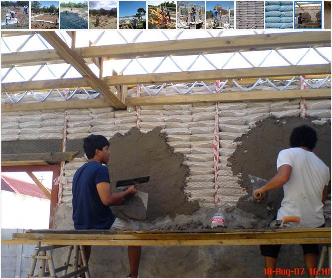 Construccin Ecolgica Casas hechas de bolsas de arena