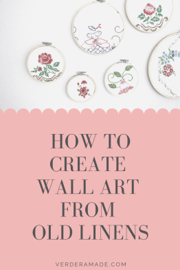 how to create wall art from old linens