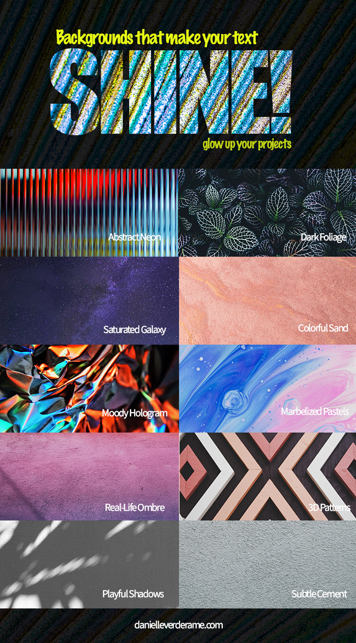 Free Backgrounds for your Designs infographic