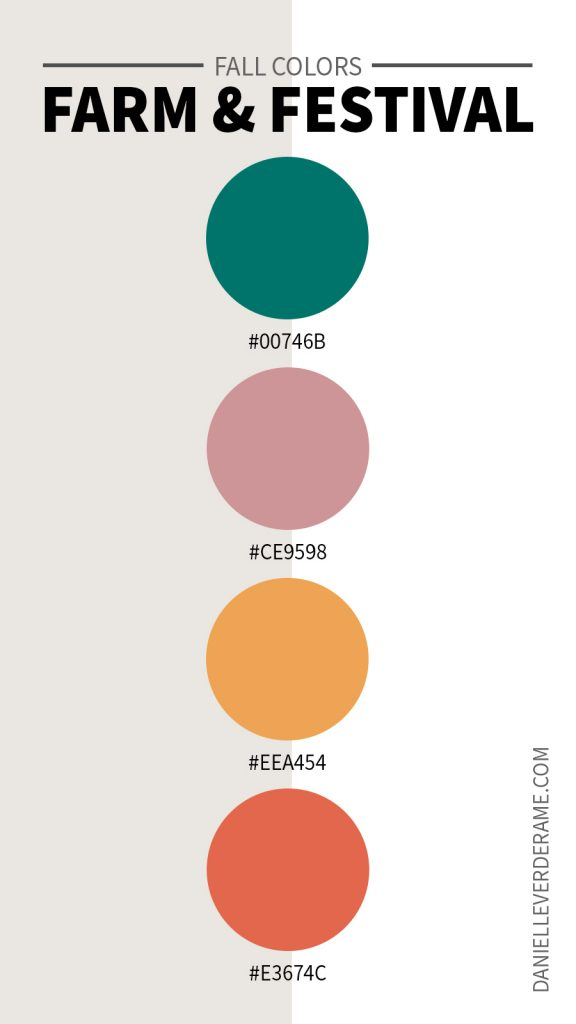Hex codes for Fall Color palettes