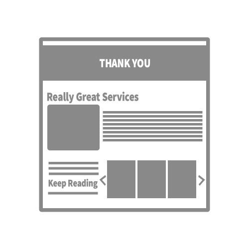 Marketing Campaign Graphic: Thank you page