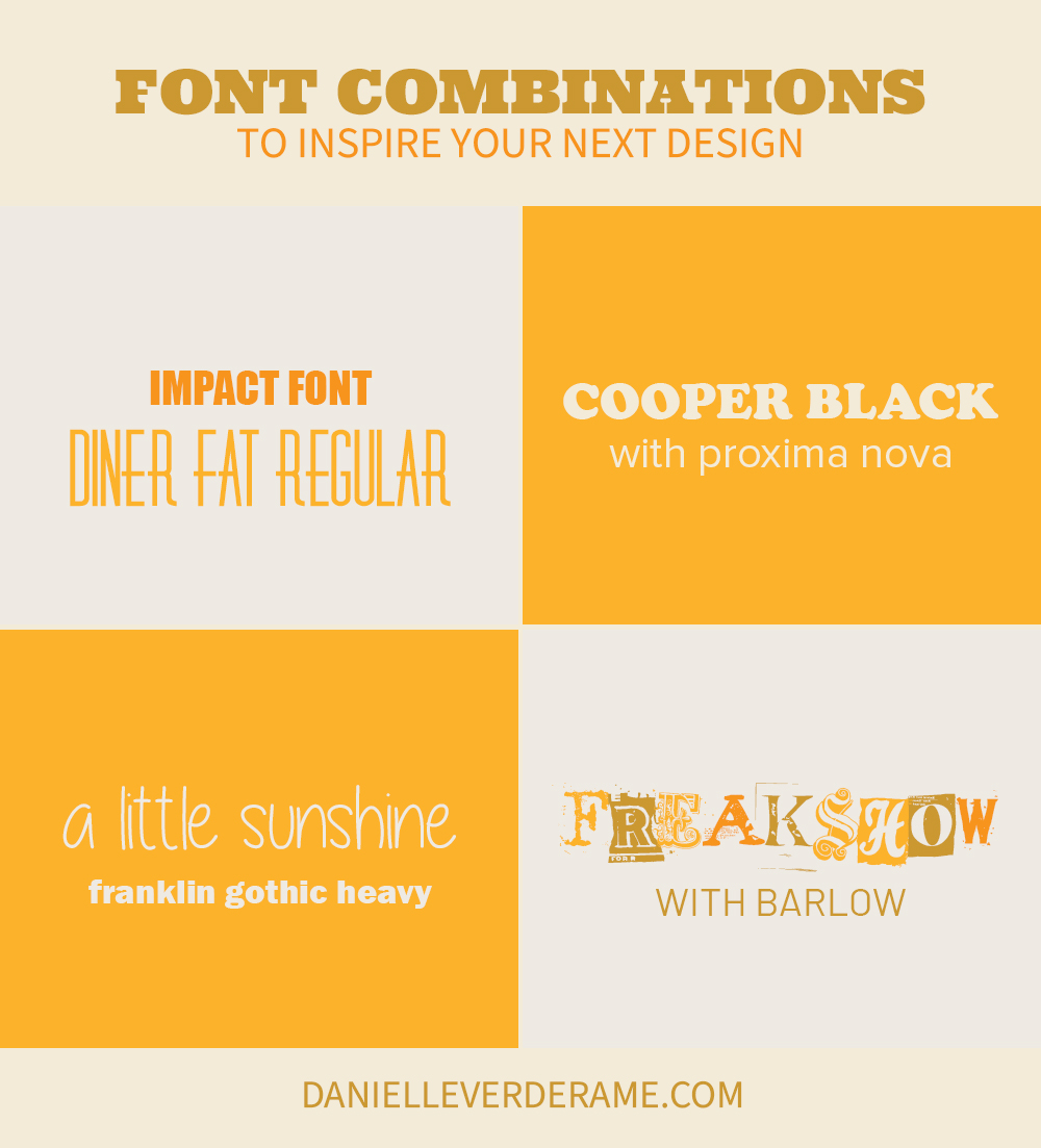Graphic Idea using free fonts