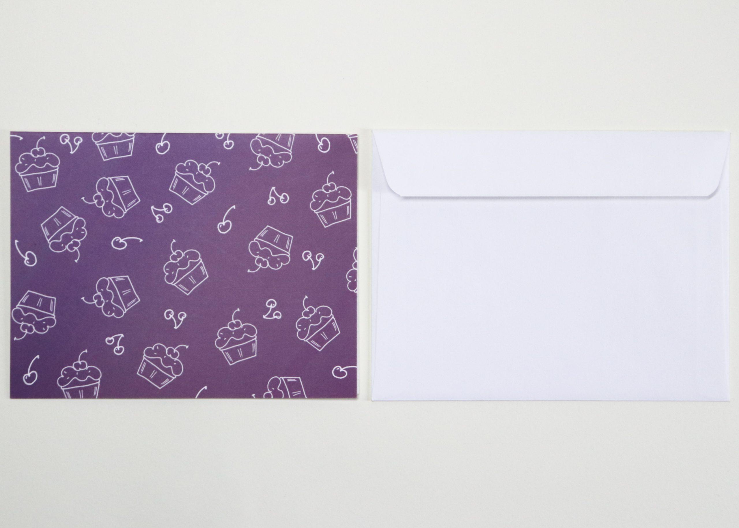 purple cupcake cards