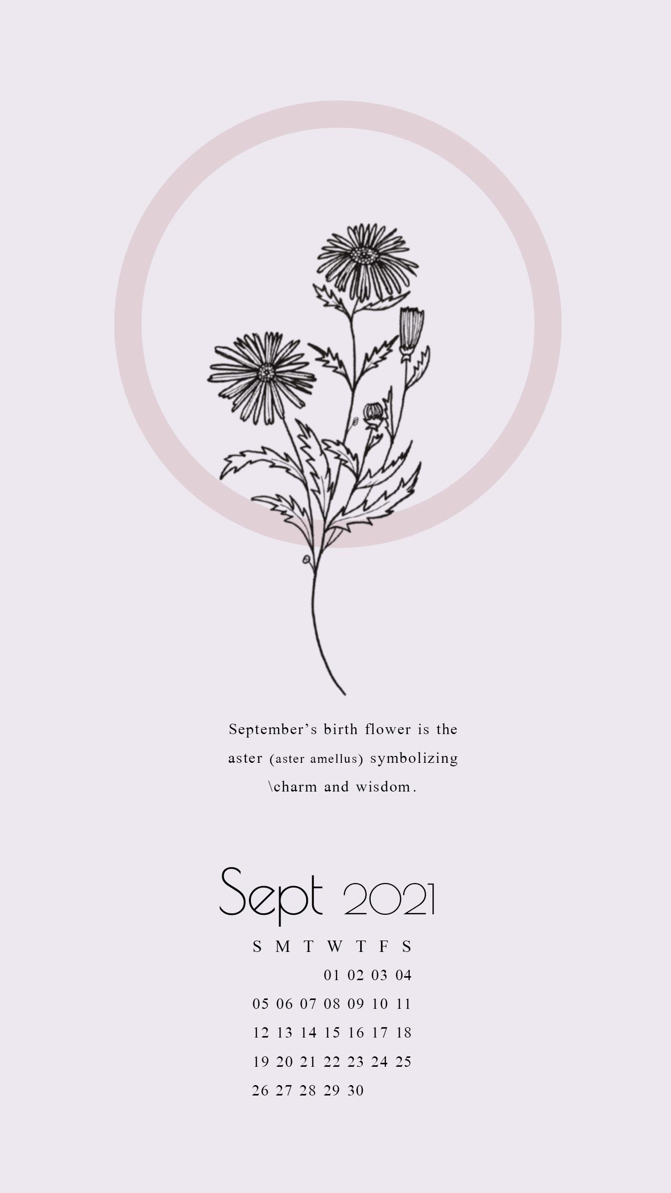 september 2021 calendar wallpaper for iphone