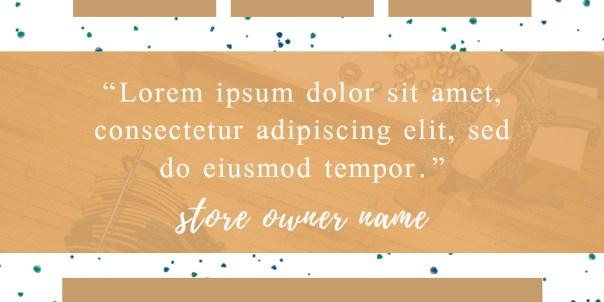 Owner Quote Cover Image -  eStore Sections