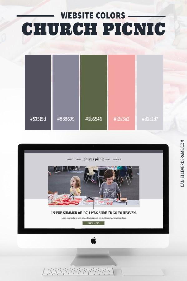 Church Picnic Website Color Combinations