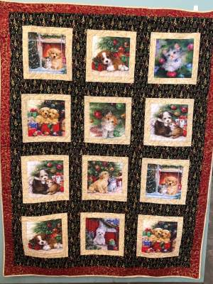 We're hosting a Christmas Quilt Raffle!