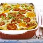 Lasagne con Zucchine e Pomodorini freschi