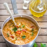 Zuppa piccante di Miglio e Lenticchie rosse