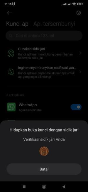 kunci aplikasi fingerprint xiaomi