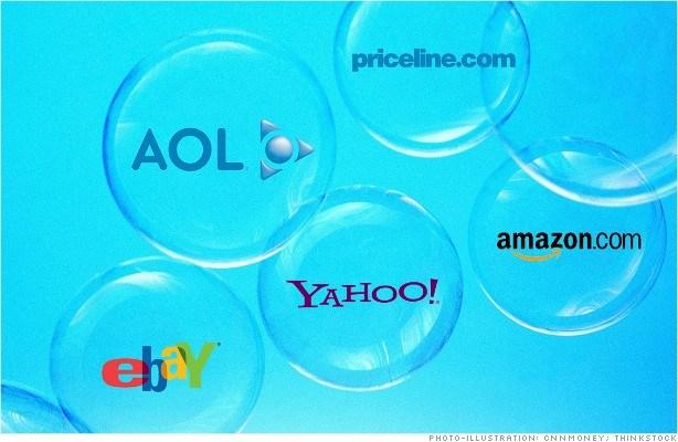 De grootste zeepbel ooit, de dot com of internet zeepbel.