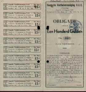 Een obligatie met mantel en coupon.