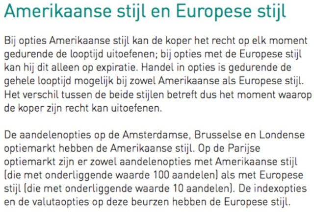 amerikaanse-en-europese-stijl-opties