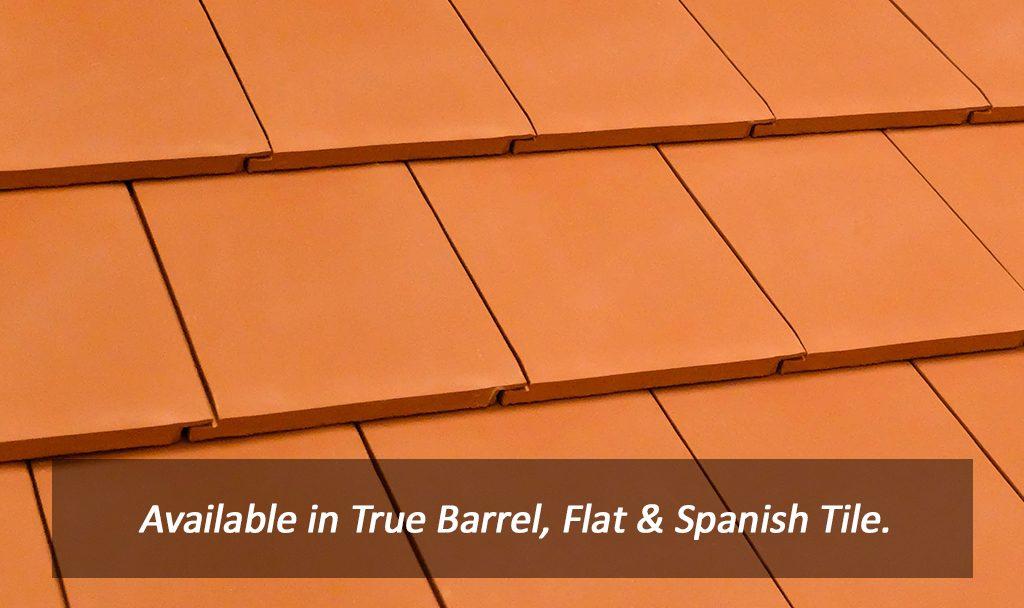 flat tile verea clay roof tiles