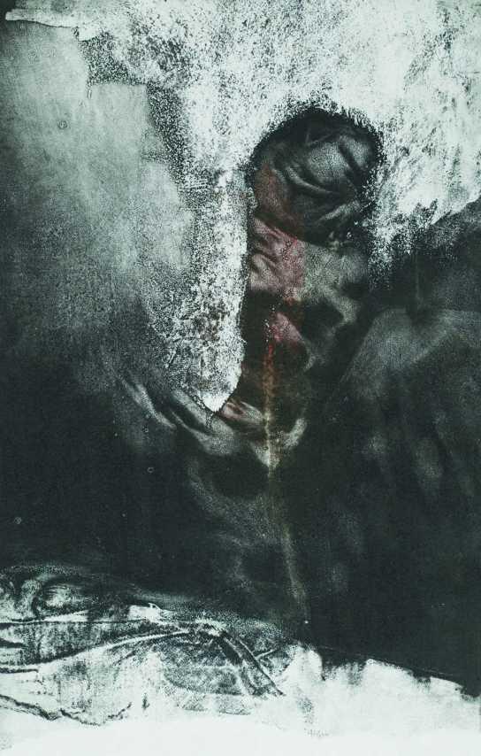 Testtorony, aquatinta,43x27 cm, 1992