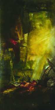 Harminc év háború I., diptichon, vegyes technika, 200x100 cm, 1995