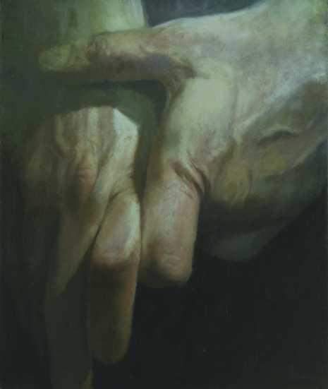 Tanítvány, olaj, farost, 120x95 cm, 2006