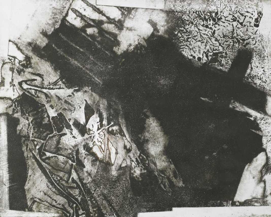 Menekülő idő, aquatinta, 45x57 cm, 1990
