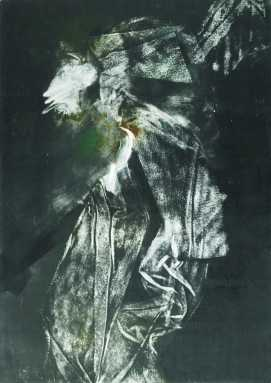 Éjjeli látogató II., monotypia, 70x50 cm, 1990