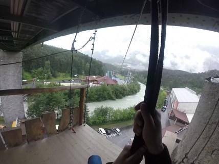 400 Meter lang ist die Seilrutsche Flying Fox