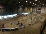 Die Motocross Indoor-Strecke