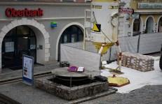 Brunnen desolat - ferne 20.3.2017 Unterer Stadtplatz
