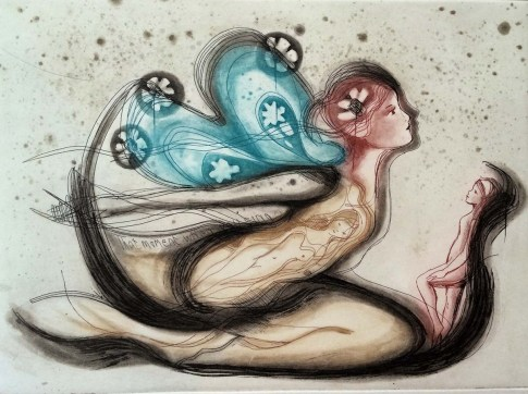 Verena Vaddell visual artist etching