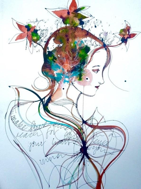 Verena Waddell visual artist original ink make these lines