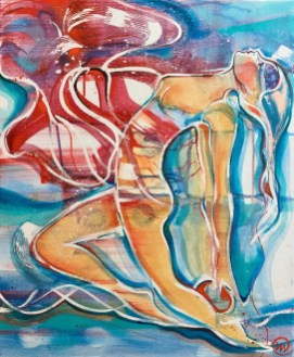 Verena Waddell visual artist original purification in red