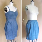 How to Turn a Skirt into a Dress