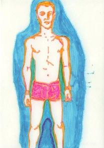 Boy with pink Panties