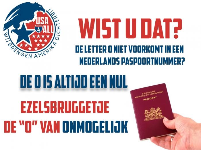 Geen O in Nederlands paspoort
