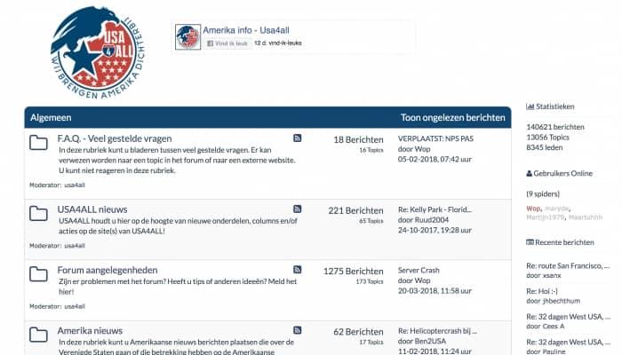 Amerika Forum met heel veel informatie voor uw USA vakantie!