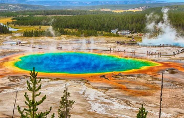Pools, Pots en Geisers in Yellowstone