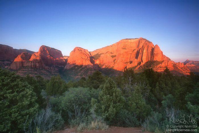 Zion-Kolob-Canyon-Sunset - Living Wilderness Nature Photography