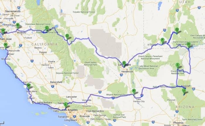Zuid West Amerika Voorbeeldroute – Stel zelf je route samen!