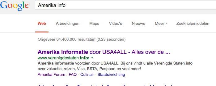 Usa4all op Google