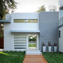 Fachadas de casas de color gris