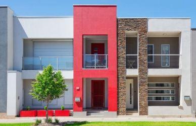 colores casas modernas blanco frente